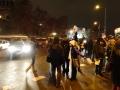 Кордон от полицаи следеше протестиращите в подкрепа на Странджа по пътя им към ВАС