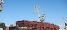 """Плаващата АЕЦ """"Академик Ломоносов"""" все още се строи. Снимка: Flikr"""